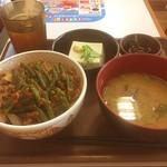 すき家 - ニンニクの芽牛丼