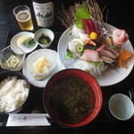 二ツ島 - 料理写真:おすすめお刺身膳 2470円 (2016.8)
