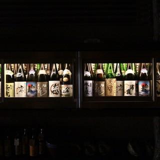 目で見て楽しい!日本酒セラーのあるお店