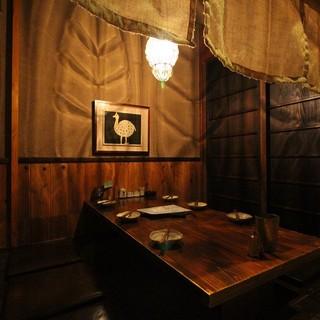 木のぬくもりが優しい和モダンな個室