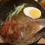 ホルモンすず - 【2016.8.11】冷麺ハーフ¥430