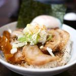 東京駅 斑鳩 - 炙り肉ごはん