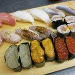 築地玉寿司 - ・「食べ放題ペア(¥8640)」その1。