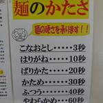 博多ラーメン 長浜や 池袋店 - 麺のかたさ