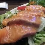 海千山千番長 難波店 - 「サーモンカルパッチョ」(680円)(2016年8月)