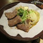利衛門 - 牛肉の陶板焼き