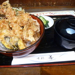 味彩善 - 天丼 600円 2016/8