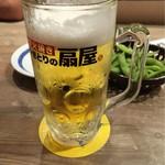 54932361 - 生ビールと、お通しの枝豆