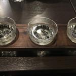 個室日本酒居酒屋 千住一凛  - 日本酒三種飲み比べ