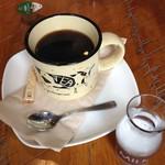54937415 - ランチセットのホットコーヒー。
