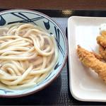 丸亀製麺 - 冷かけ&鶏天&かしわ天