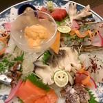 鮨処魚徳 - お刺身盛り合わせ ¥10,000