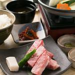 松重のお薦め ステーキ膳 特産松阪牛(100g)