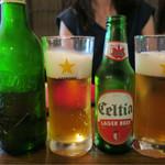 Bistro ひつじや - 201608 ハートランドとセルティア(チュニジアのビール)