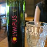 Bistro ひつじや - 201608 OLUMPUS オリンポス レッド・ドライ(キプロスの赤ワイン) ハーフボトル 710円