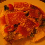 Arfa cafe - 生ハムといろいろ野菜のサラダピザ