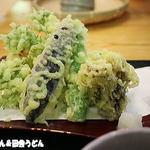 地粉そば処 みのり - 野菜天ぷら