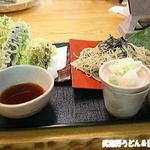 地粉そば処 みのり - 野菜天ざる蕎麦