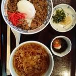 長寿庵 - 料理写真:温たまらん丼セット☆1050円 蕎麦湯も美味!