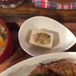 タケウチ - 小鉢は冷やっこ