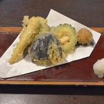 さらしな総本店 - 野菜6種の天麩羅(820円)