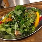 砂肝とヤゲン軟骨の香味野菜サラダ