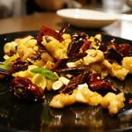 54951909 - 鶏肉の四川唐辛子香り炒め