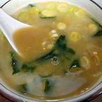 博多ラーメン 長浜や - 付け合せのスープ