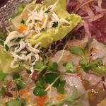 クインチ チェントラーレ - クインチ チェントラーレ(愛知県名古屋市中区丸の内)鮮魚3種のカルパッチョ盛り