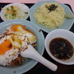 重松飯店 - 焼豚玉子飯Cセットの冷やし810円(税込)