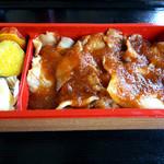 列車レストラン・清流 - やまと豚のお肉にたっぷりのタレ♪(2012年撮影)