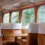 列車レストラン・清流 - こうして見ると普通に電車に乗ってるみたいですね。