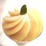 和光ティーサロン - 白桃パフェ