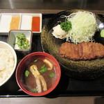 牛かつ もと村 - 料理写真:牛かつ麦飯セット(130g) 1300円
