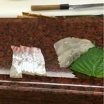 明石 菊水 - 明石鯛の腹身と地の鰈