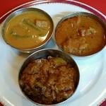ターラ - カレー:茄子のマサラカレー、ベジタブル、チキン