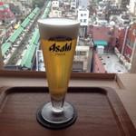 ミハラシ・カフェ - 泡迄美味しいビアビア390円
