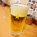 立呑処へそ - 生ビール