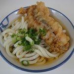 彦江製麺所 - ひやあつ大240円+ゲソ天110円