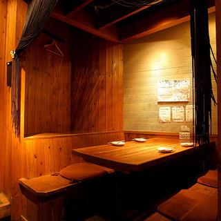"""大人の隠れ家は""""和""""の木造り個室♪"""