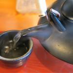 金華あなごや - 201608 骨ダシは最初にそのままで、後でお茶漬け用に