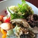 タチカワ カフェ - 前菜も こんなに  丁寧で  この時点で  本格的な料理の美味しさに   驚きました