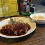 洋食の店 自由軒 - トンテキ¥1100と中ライス¥250