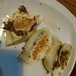 さんぱち - 海老餃子(食べかけですみません)