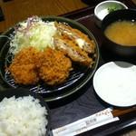 和幸 - 盛り合わせ ヒレかつ+チーズメンチ