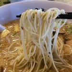 博多らーめん渦流 - 麺は極細です。