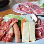 牧場館ジンギスカン食堂 - 盛合わせ2皿