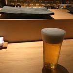 すし天 - 生ビール