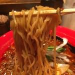 船場担担麺 - 中太縮れ麺