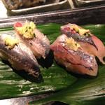 かっぱ寿司 - 鰯、鯵とも2貫で162円